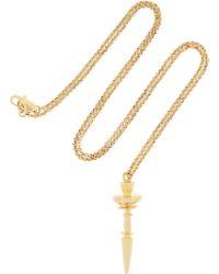 Dominic Jones - Pepi 23karat Yellow Goldplated Necklace - Lyst