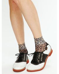 Free People Enfield Studded Saddle Shoes - Lyst