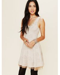 Free People Rock Princess Fit and Flare Dress white - Lyst