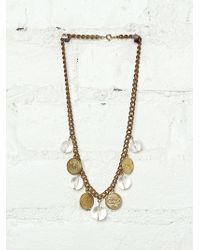 Free People Vintage Coin Necklace - Lyst