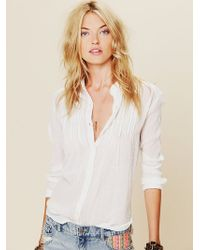 Free People Fp One Gauze Buttondown white - Lyst