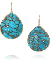 Ippolita - Teardrop 18karat Gold Bronze Turquoise Drop Earrings - Lyst