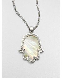 John Hardy Mother-Of-Pearl & Sterling Silver Pendant Necklace - Lyst