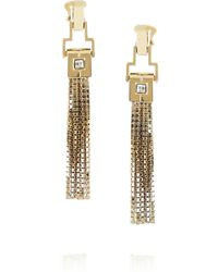 Lanvin Pompons Crystal Tassel Earrings - Lyst
