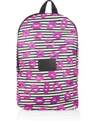 Marc By Marc Jacobs - Printed Striped Shell Backpack - Lyst