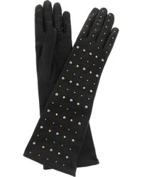 Miu Miu - Studded Leather Gloves - Lyst