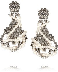 Tom Binns - Regal Rocker Swarovski Crystal and Crystal Pearl Earrings - Lyst