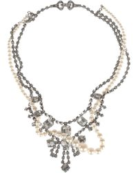 Tom Binns - Regal Rocker Swarovski Crystal and Glass Pearl Necklace - Lyst