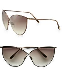 Tom Ford Evelyn Metal Catseye Sunglasses - Lyst