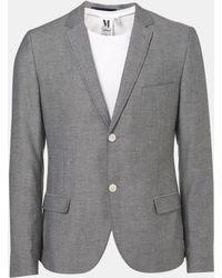 Topman Oxford Skinny Fit Blazer blue - Lyst