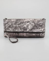 Kooba - Chrystie Flap Clutch Bag Anthracite - Lyst