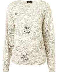 Topshop Crystal Skull Textured Sweat - Lyst