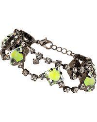 TOPSHOP - Neon Stone Bracelet - Lyst