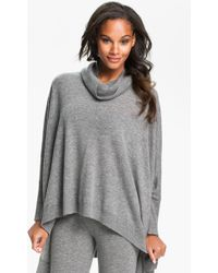 Donna Karan New York Cozy Sweater Knit Poncho - Lyst