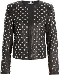 Diane Von Furstenberg Kate Leather Jacket - Lyst