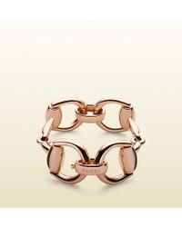 Gucci Gold Horsebit Bracelet - Lyst