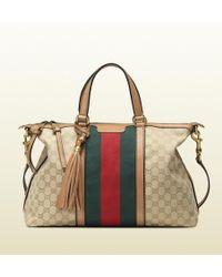 Gucci Rania Original Gg Canvas Top Handle Bag - Lyst