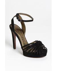 Lanvin Stiletto Knot Sandal black - Lyst