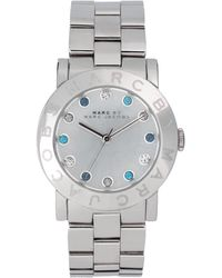 Marc By Marc Jacobs Exclusive To Asos Uk Silver Bracelet with Diamante Detail Watch - Lyst