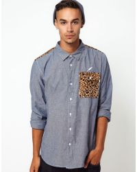 Publish Shirt with Leopard Print - Lyst