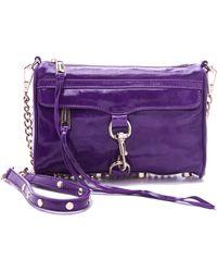 Rebecca Minkoff Mini Mac Bag purple - Lyst