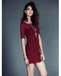 Free People Boatneck Victorian Dress - Lyst