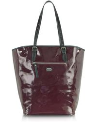 McQ by Alexander McQueen Eco Patent Leather North South Tote - Lyst