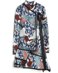 Proenza Schouler Brocade Asymmetrical Wrap Dress - Lyst