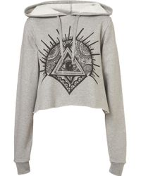 Topshop Shrine Cropped Hoody By Illustrated People - Lyst