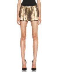 A.L.C. Deans Short in Gold - Lyst