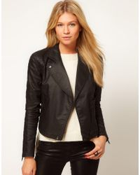 ASOS Collection Asos Biker Jacket in Coated Denim - Lyst