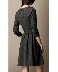 Burberry Brit - Gathered Wool Dress - Lyst
