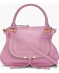 Chloé Lilac Leather Marcie Bag - Lyst