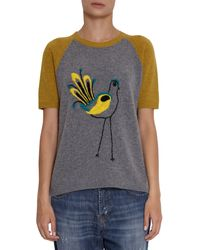 Marni Short Sleeve Chicken Sweater - Lyst