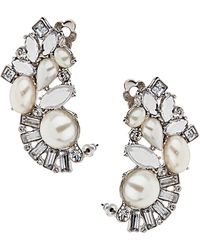 Topshop Pearl Deco Ear Tunnels white - Lyst