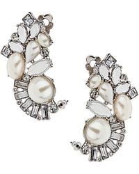 Topshop Pearl Deco Ear Tunnels - Lyst