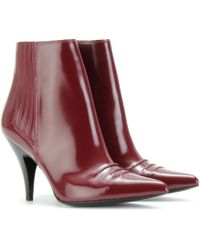 3.1 Phillip Lim Leather Ankle Boots red - Lyst