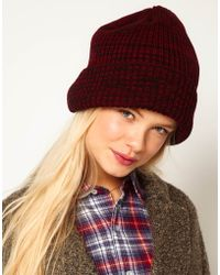 Asos Mixed Knit Boyfriend Beanie - Lyst