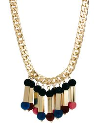 Asos Flocked Ball Necklace - Lyst