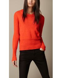 Burberry Brit Classic Alpaca Sweater - Lyst