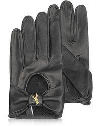 Patrizia Pepe - Laminated Leather Gloves - Lyst