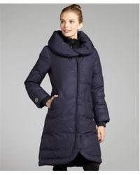 SOIA & KYO - Navy Ciara Pillow Collar Down Fill Jacket - Lyst