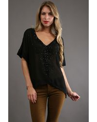 Fifteen-twenty Beaded Top in Black - Lyst