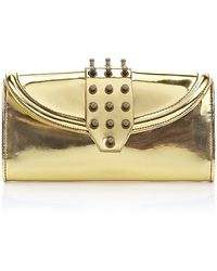 McQ by Alexander McQueen Studded Metallic Wallet - Lyst