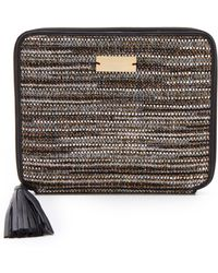 Twelfth Street Cynthia Vincent Ipad Case with Tassel brown - Lyst