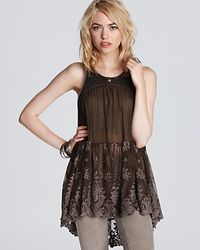 Free People  Sequin Mesh Tunic - Lyst