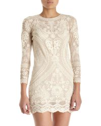 Isabel Marant Devi Dress beige - Lyst