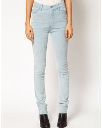 Cheap Monday Cord Skinny Jeans blue - Lyst