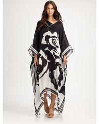 Emilio Pucci Printed Silk Caftan - Lyst