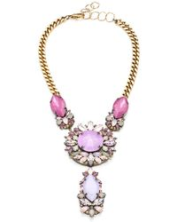 Erickson Beamon Pretty in Punk Embellished Bib Necklace - Lyst